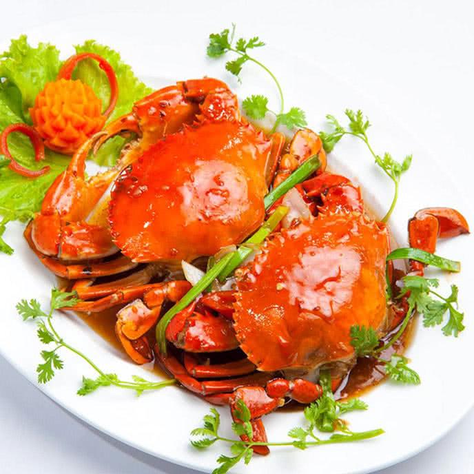 Món ăn Cua biển hấp nước dừa