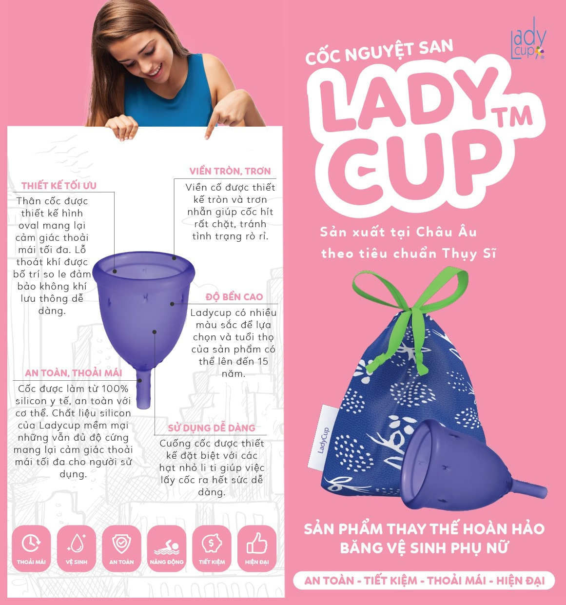 Cốc nguyệt san Lady Cup